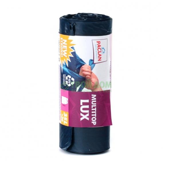 Мешки мусорные Paclan Multitop Lux 35л 20шт Синий.