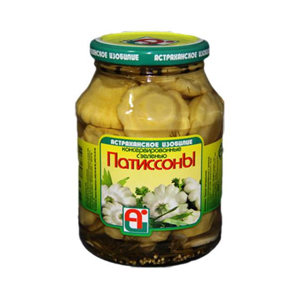 Патиссоны Астраханское Изобилие консервированные с зеленью 1 кг