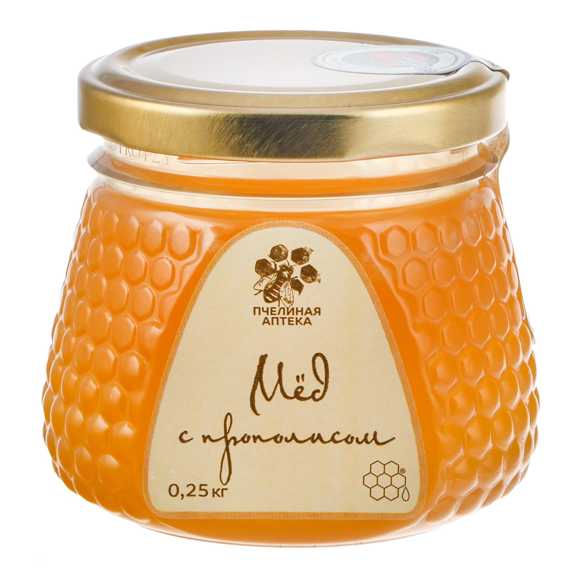 Мед Пчелиная аптека с прополисом 250 г