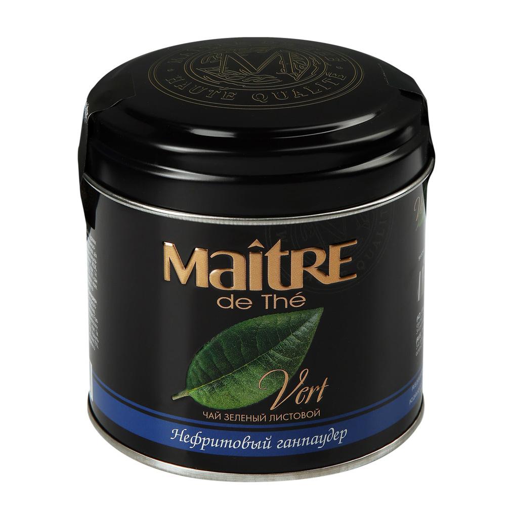 Чай зеленый Maitre de The Нефритовый ганпаудер листовой 100 г фото