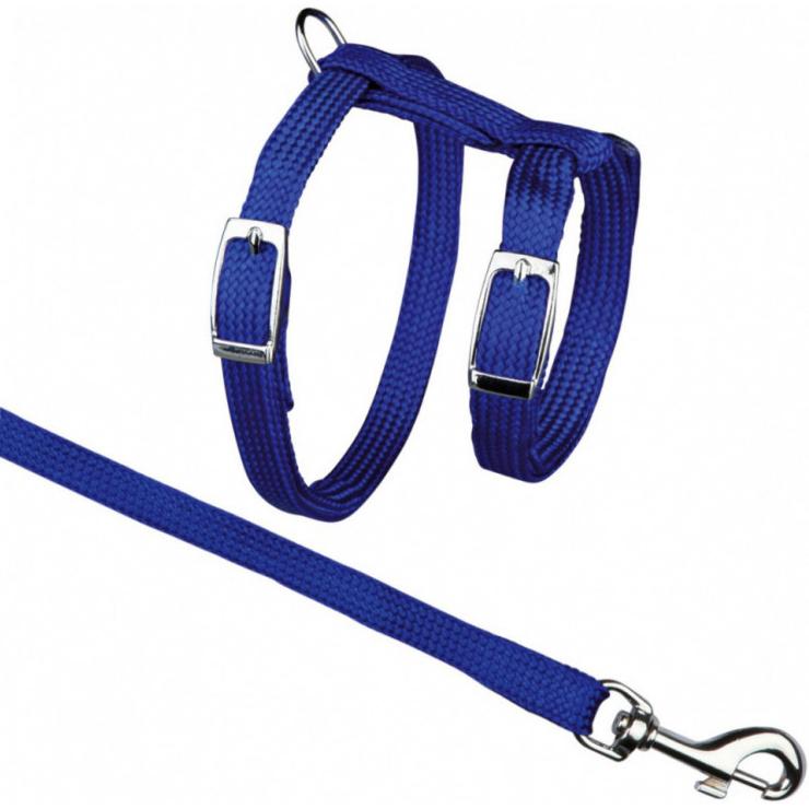 Шлейка и поводок для кошек TRIXIE Cat Harness 35-45 см В ассортименте