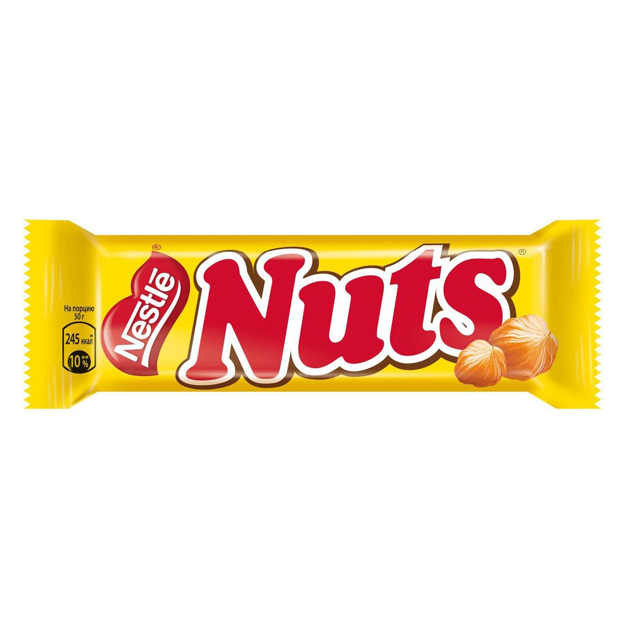 Фото - Шоколадный батончик Nuts 50 г шоколадный баточник nuts с орехами 50 г