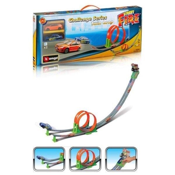 Трасса BBurago 18-30070 Двойная петля bburago автотрек bburago гоночный трек