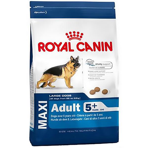 Корм для собак Royal Canin Size Maxi Adult 5+ крупных пород старше 5 лет, птица 15 кг