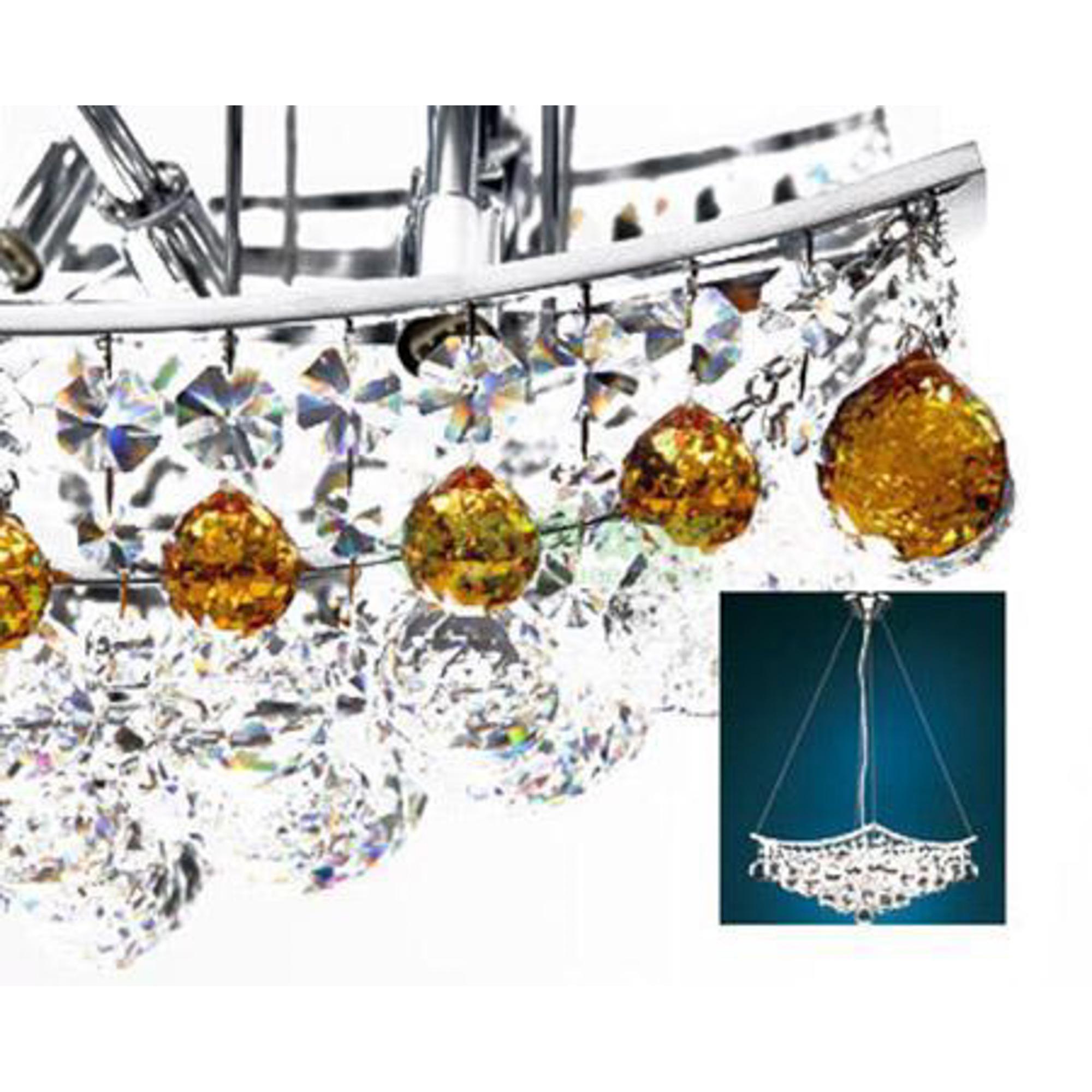 Люстра подвесная Lampister B-681c43tz/L Gold Topaz фото