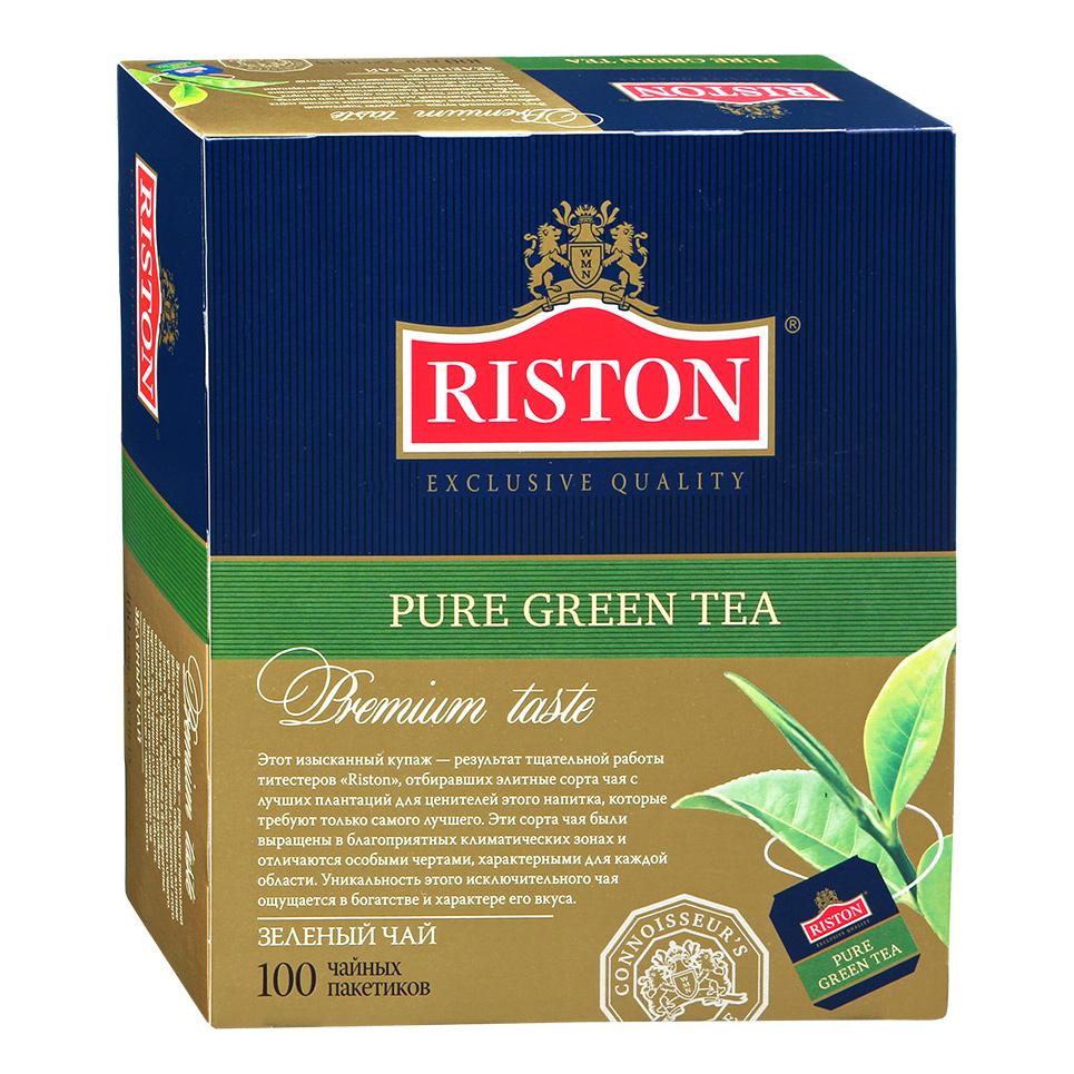 Чай зеленый Riston Pure Green Tea 100 пакетиков