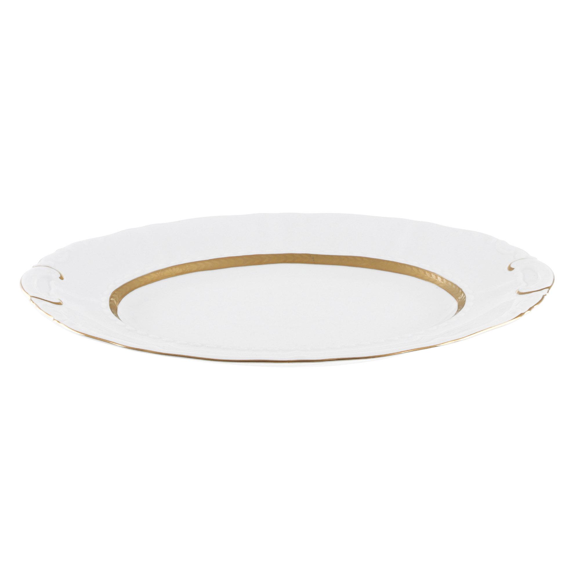 Фото - Блюдо овальное Leander Золотая лента 36 см блюдо овальное 36 см falkenporzellan блюдо овальное 36 см