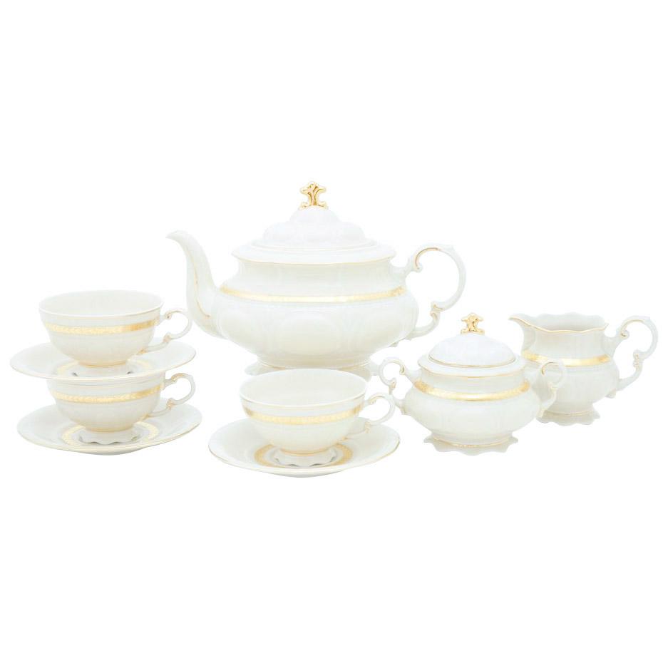 Чайный сервиз Leander Золотая лента 15 предметов