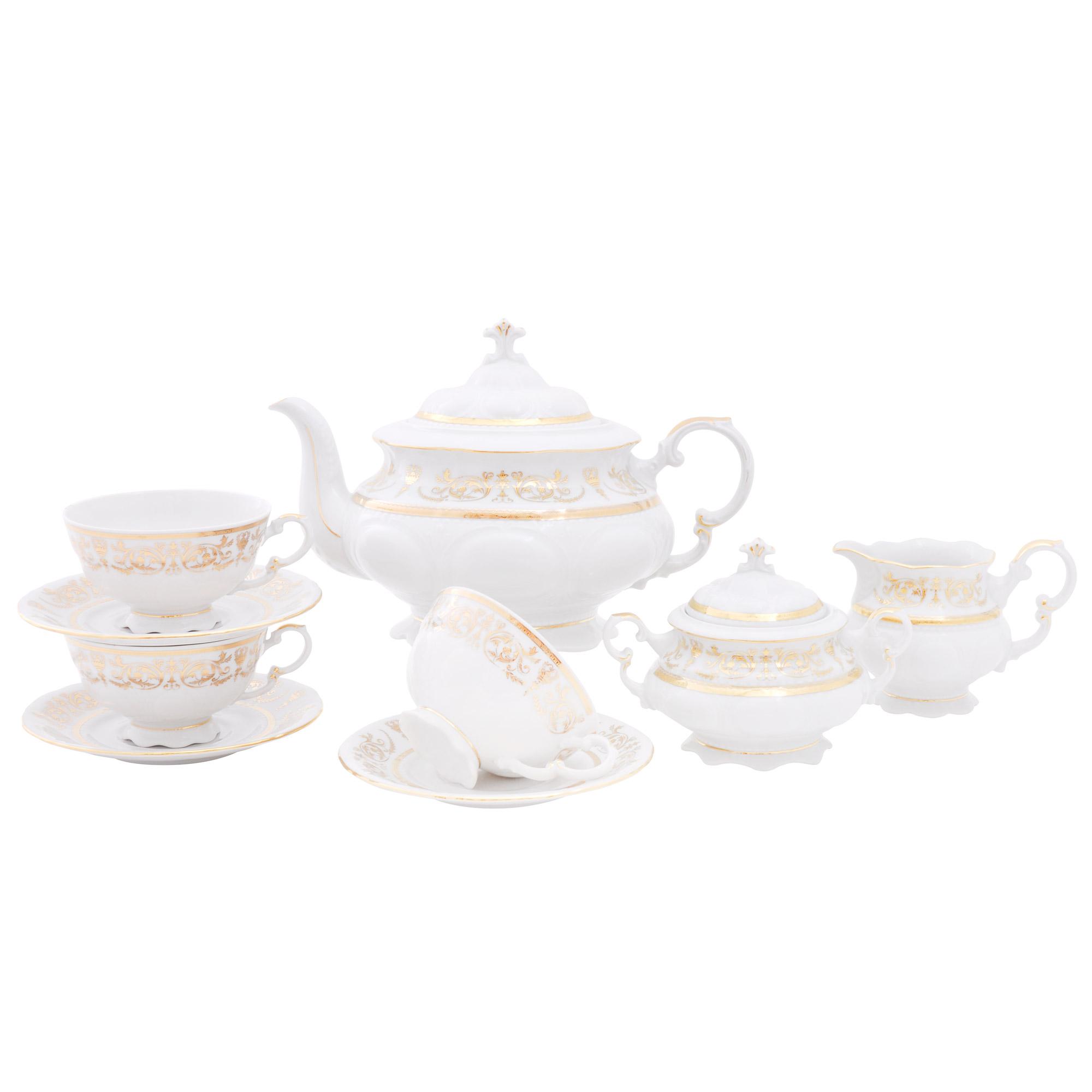 Чайный сервиз Leander Золотой орнамент 15 предметов