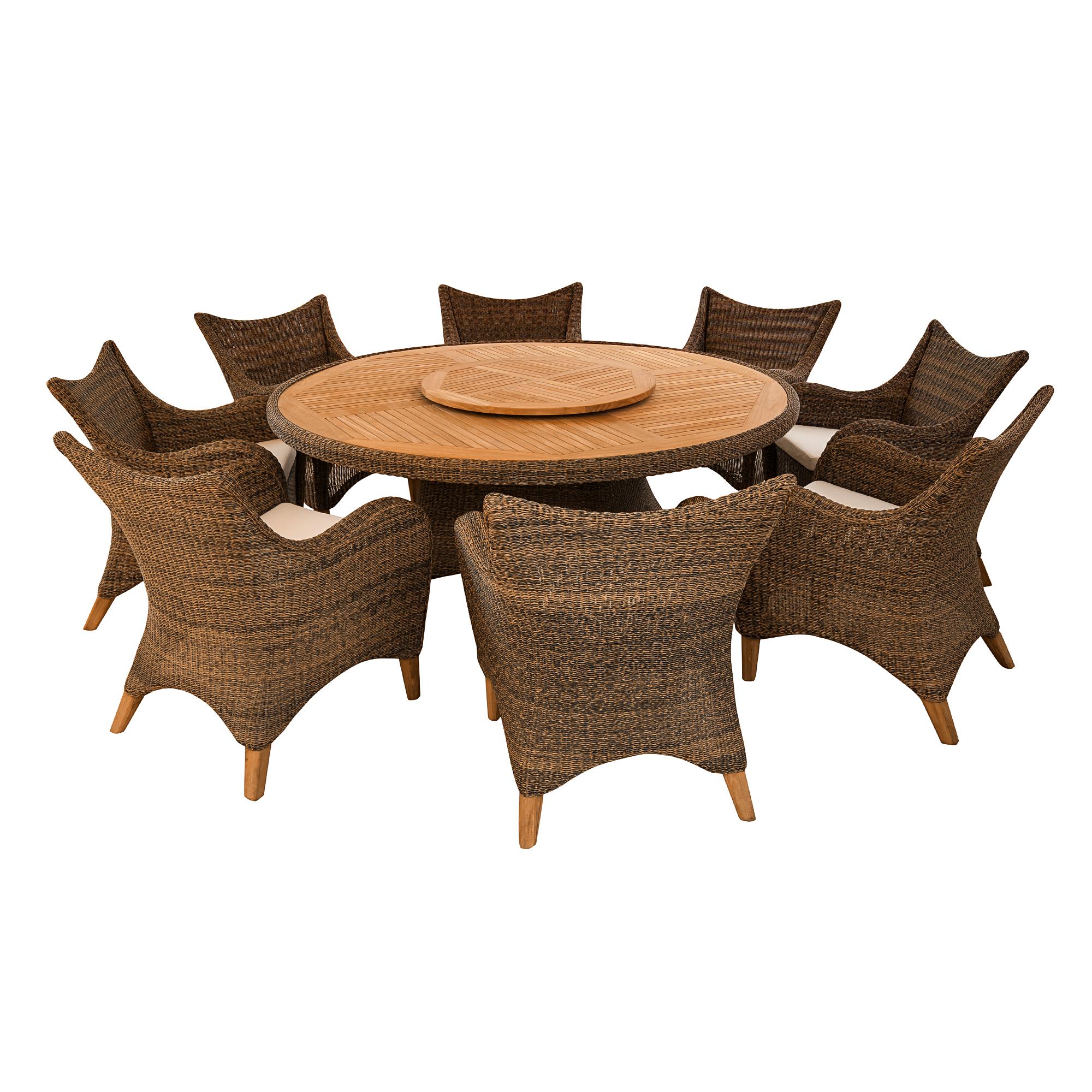 Комплект мебели Puriartha Mezzaluna 9 предметов (T-500/C-500/A-100) фото