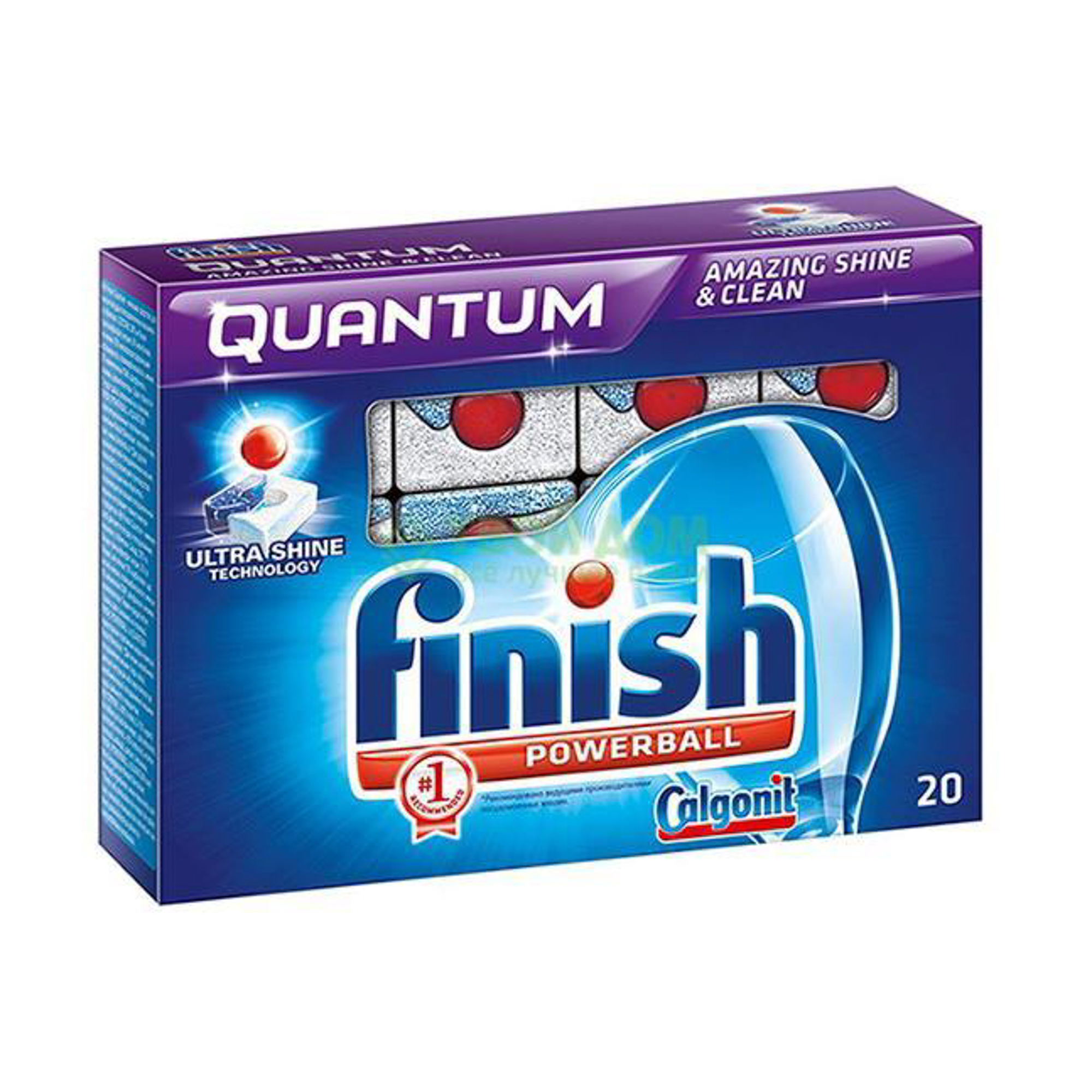 Таблетки Finish Quantum для мытья посуды в ПММ 20 шт фото