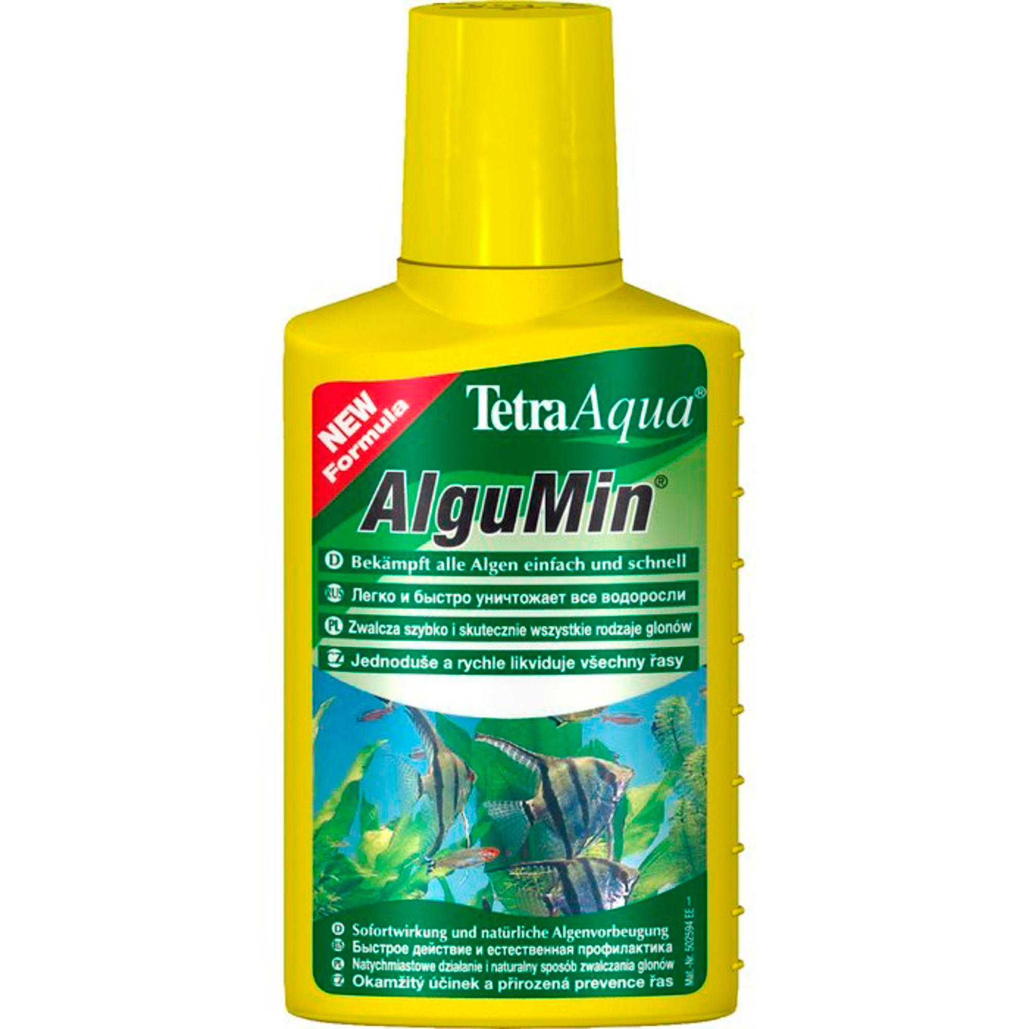 Фото - Препарат для аквариума TETRA AlguMin Борьба с водорослями 100мл tetra pond algofin средство для борьбы с водорослями в водоемах 1 л