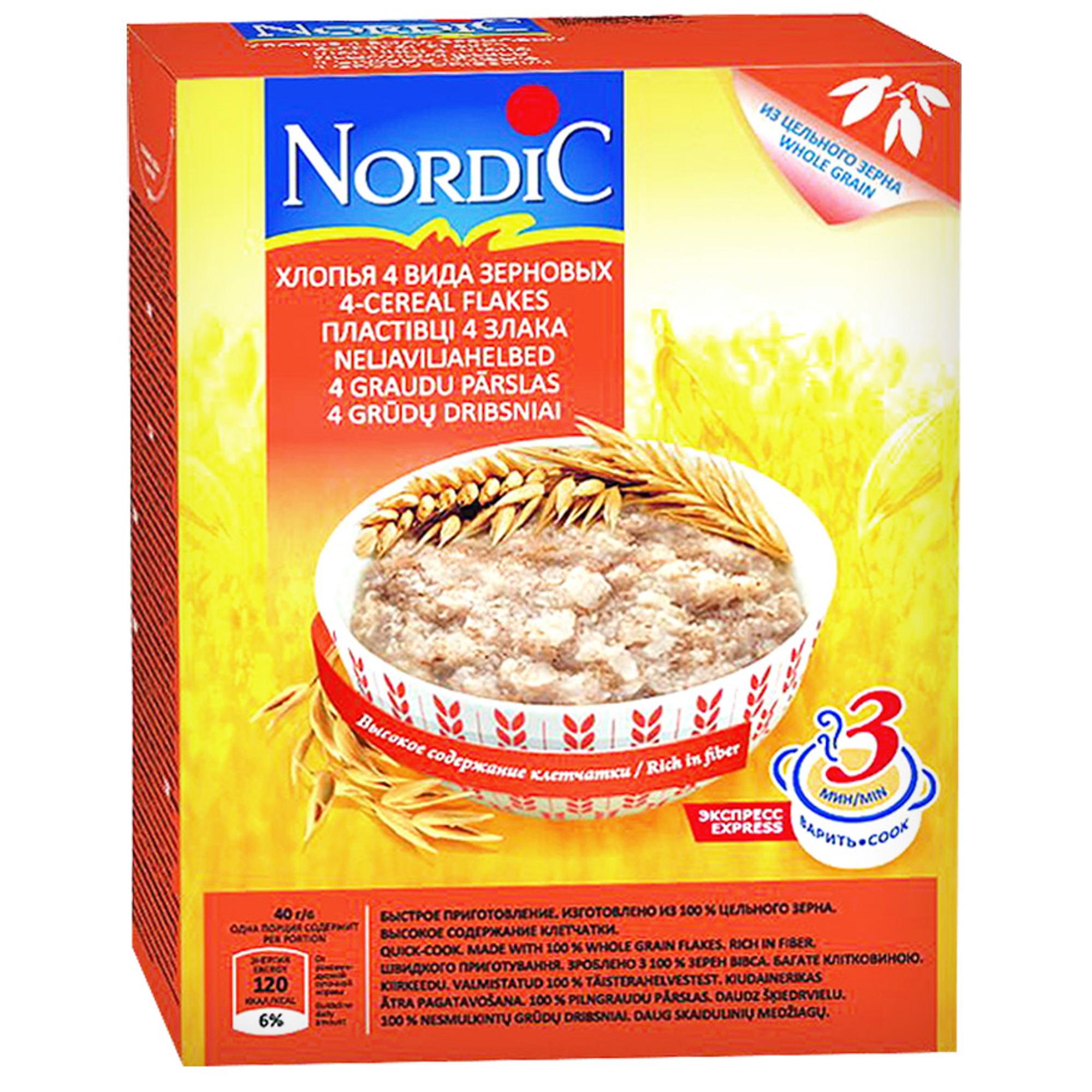 Хлопья Nordic 4 вида зерновых 600 г