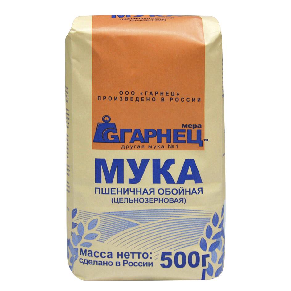 Мука Гарнец пшеничная цельнозерновая 500 г гарнец толокно овсяное 500 г