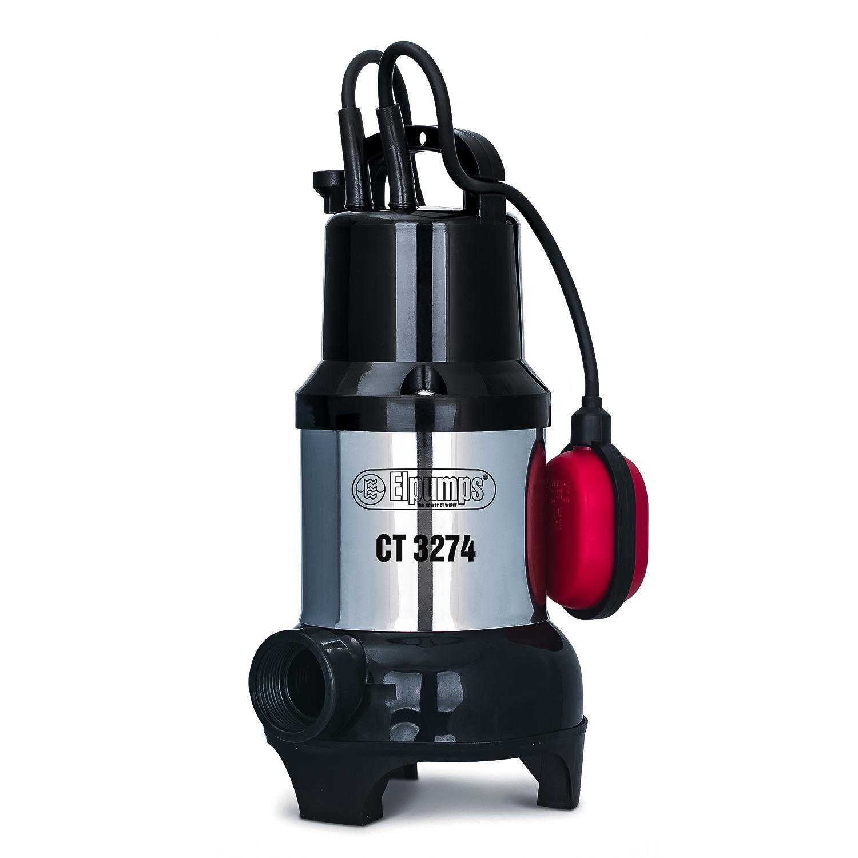 Насос дренажный для грязной/чистой воды Elpumps ct3274 насос elpumps bt 5877 k inox