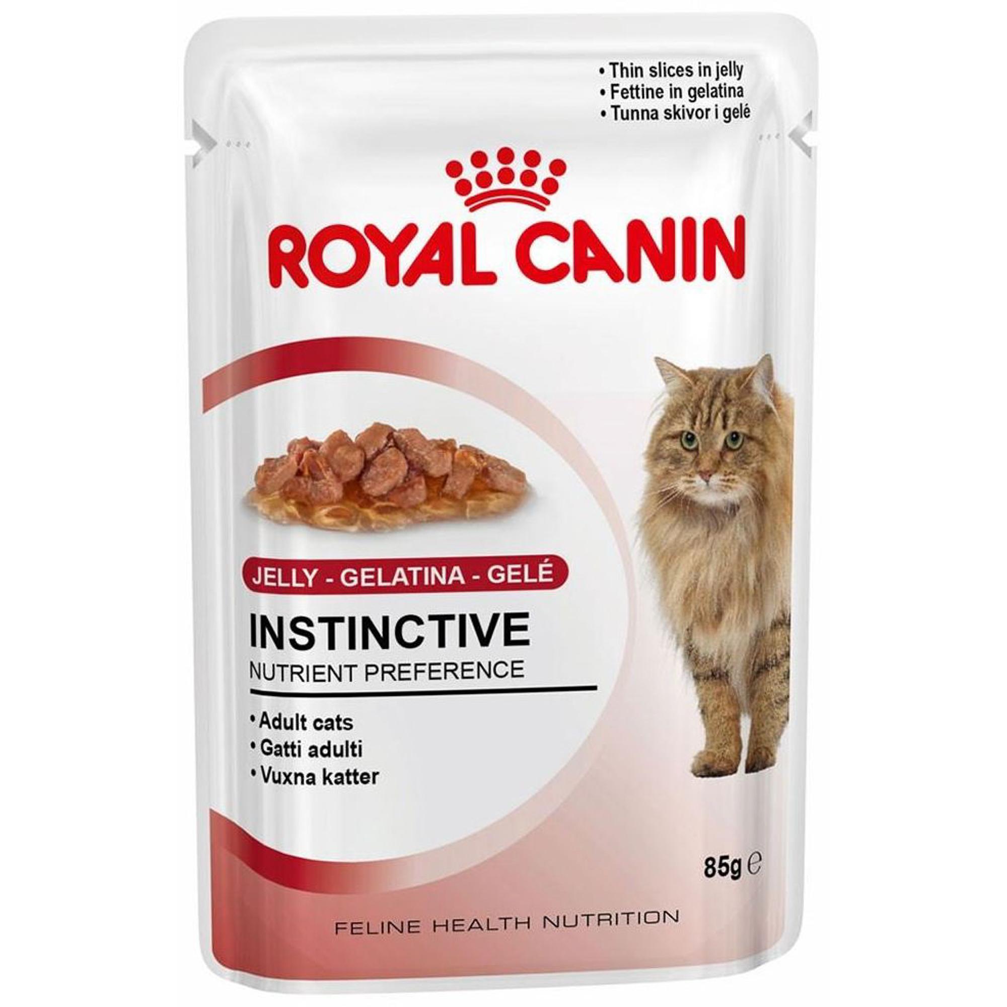 Корм для кошек ROYAL CANIN Instinctive мясные кусочки в желе 85г.