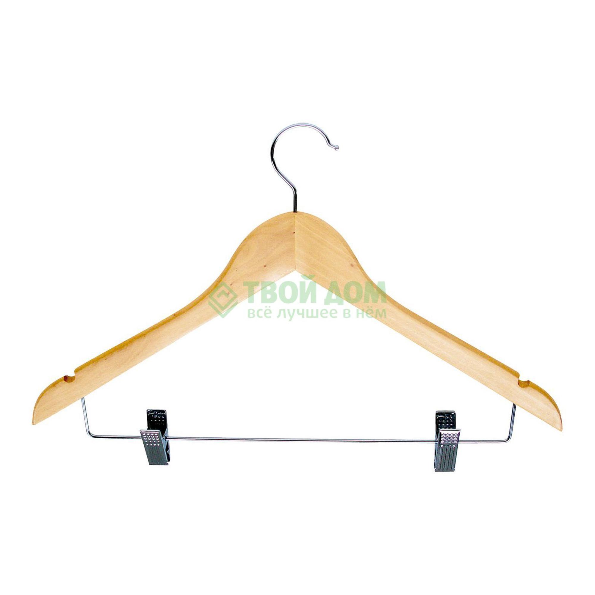 Вешалка для костюмов Valsecchi Вешалка с прищепками натур (C02/18)
