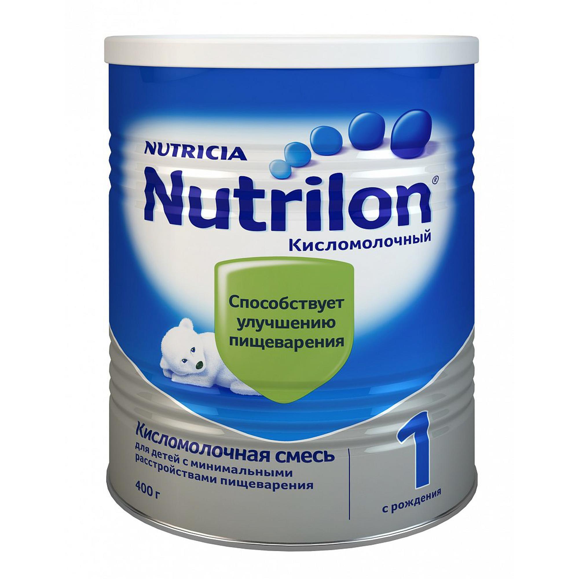 Смесь кисломолочная Nutrilon 1 с рождения 400 г молочная смесь nutricia nutrilon nutricia 1 premium c рождения 800 г
