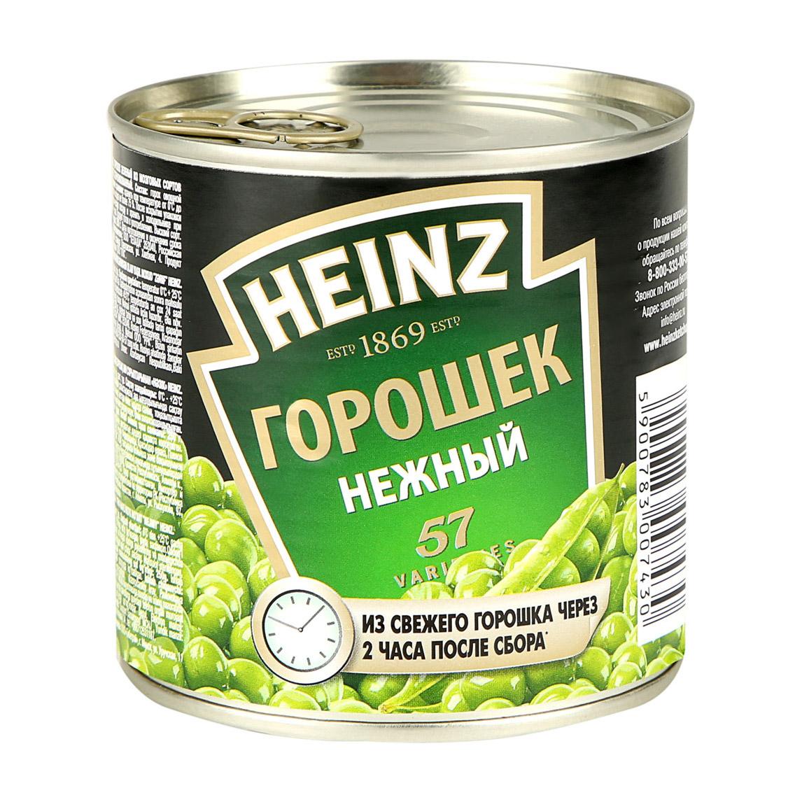 Горошек зеленый Heinz 390 г.