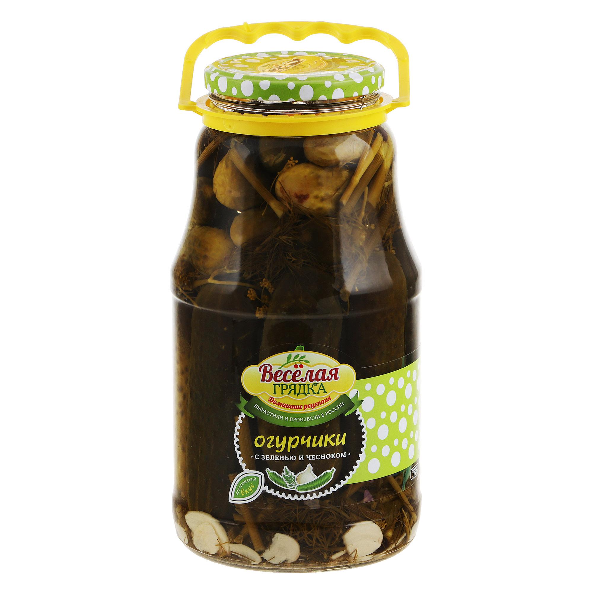 Огурчики консервированные Веселая Грядка 1,8 кг