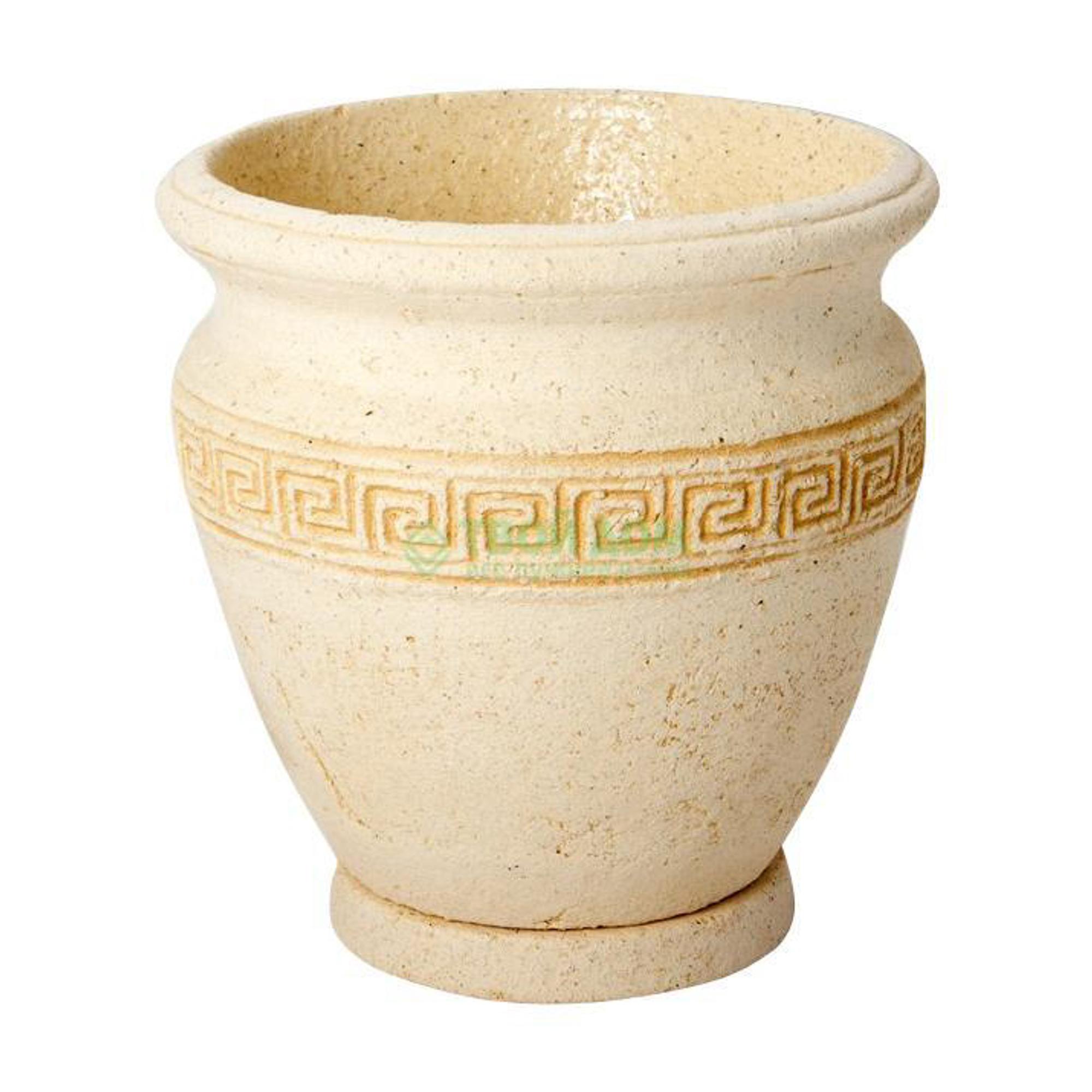 Купить Горшок Noname Аттика 1164, горшок, Россия, светло-коричневый, шамот