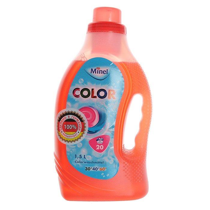 Гель для стирки Minel Color для цветного белья 1.5 л фото
