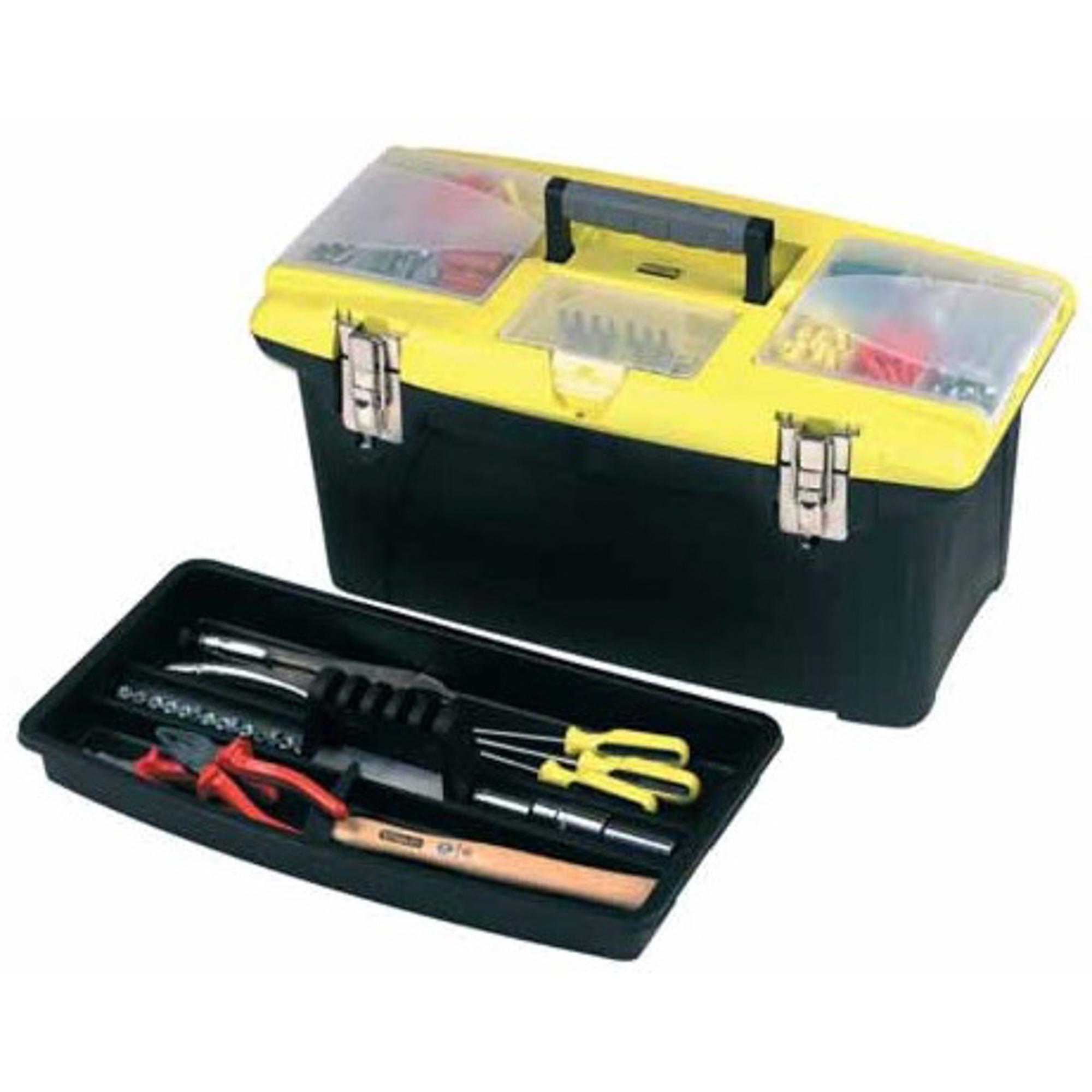 Ящик для инструмента Jumbo STANLEY 16 шт ящик для инструмента stanley jumbo черно желтый металлопластмассовый 16 дюймов 39 4х25 4х17 8 см