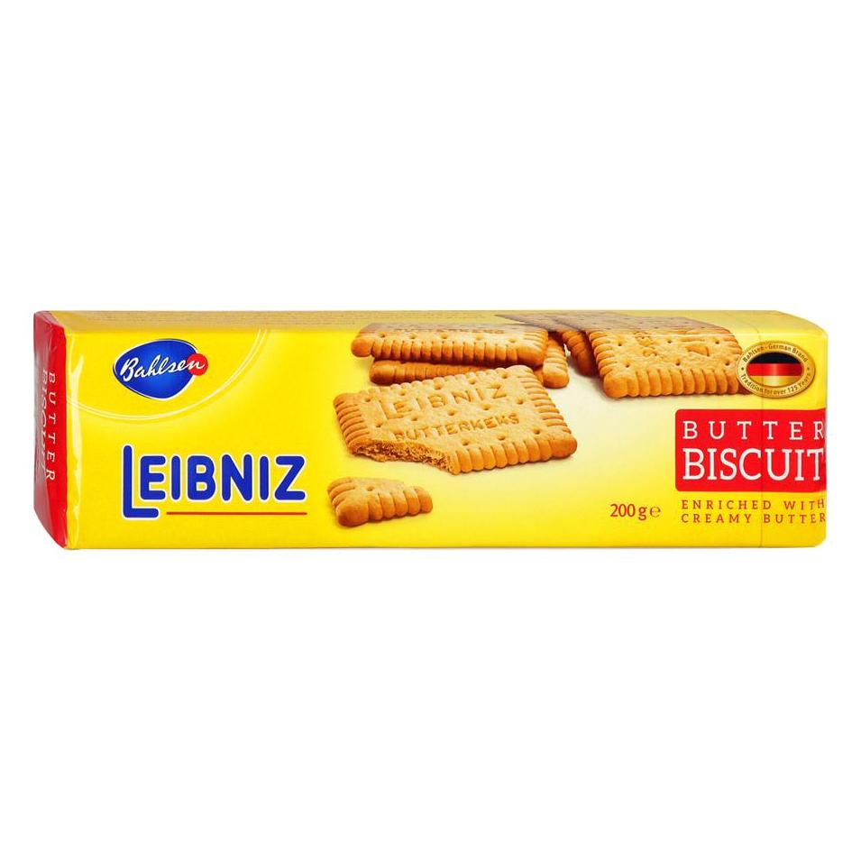 Печенье Bahlsen Leibniz Butter Biscuits 200 г печенье bahlsen choco leibniz