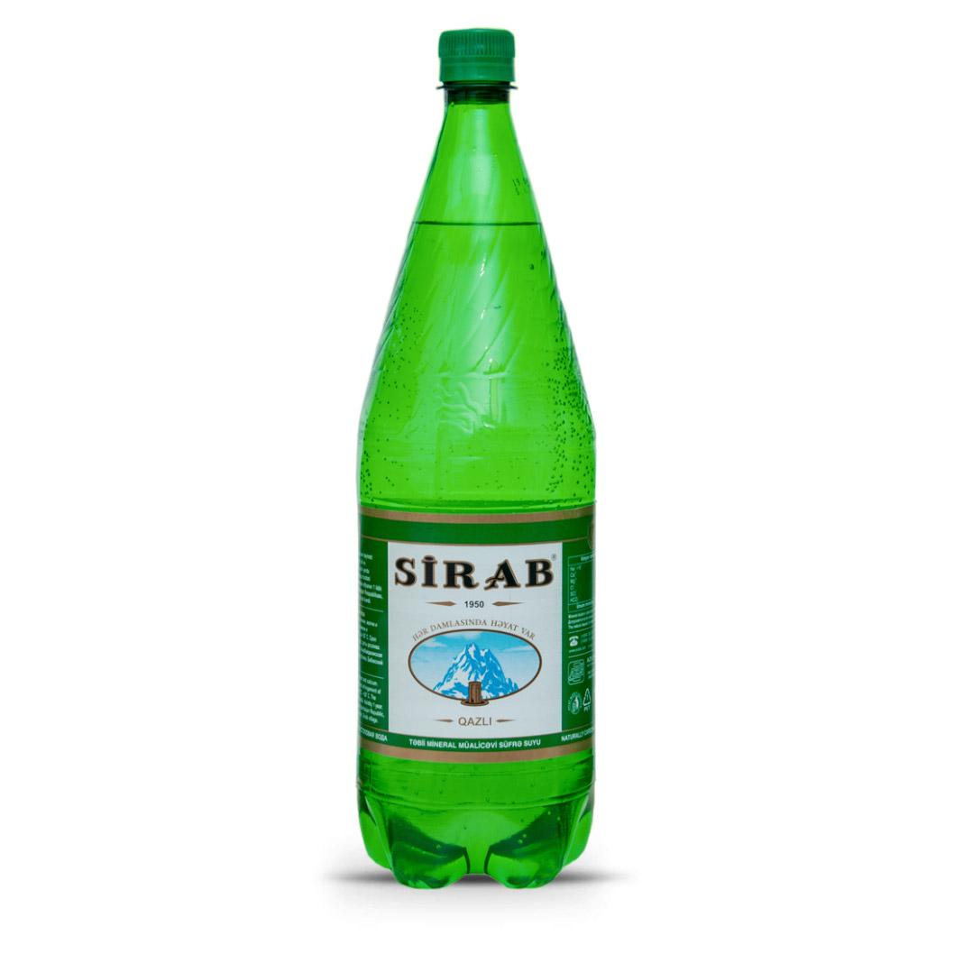 Вода минеральная Sirab газированная 1,5 л
