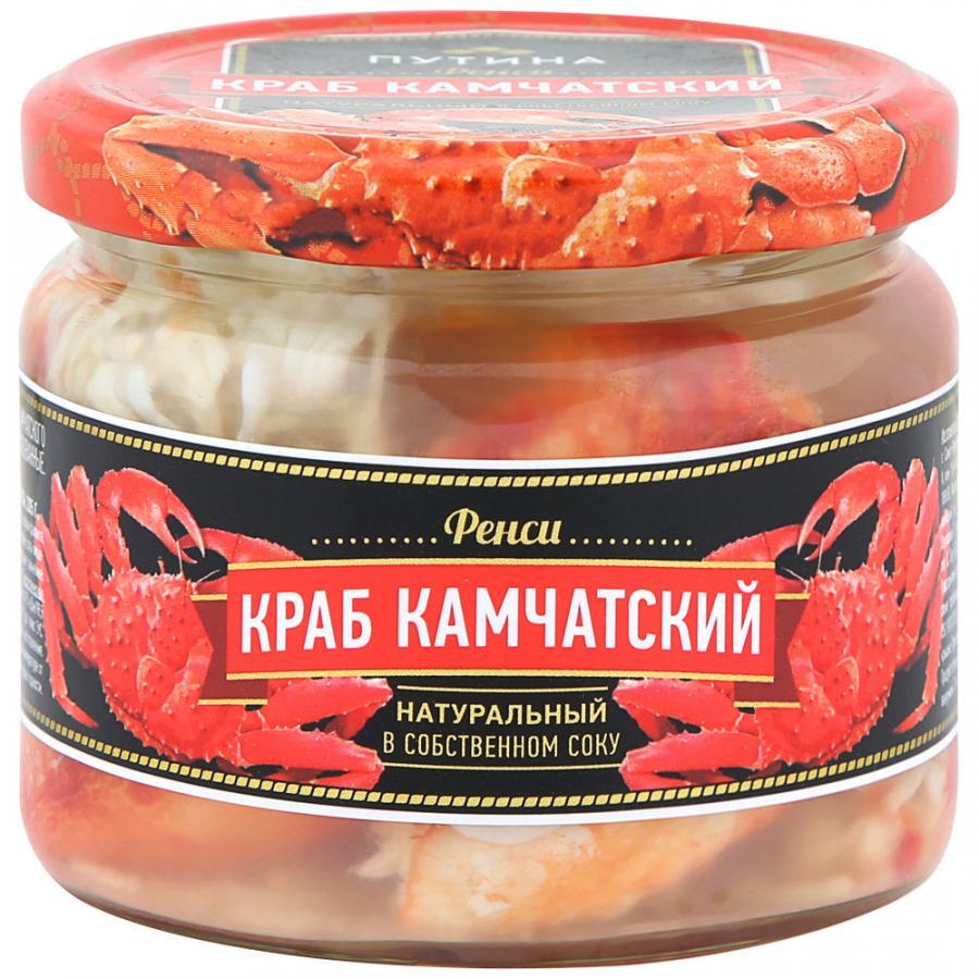 Краб Путина Камчатский Фенси натуральный в собственном соку, 310 г
