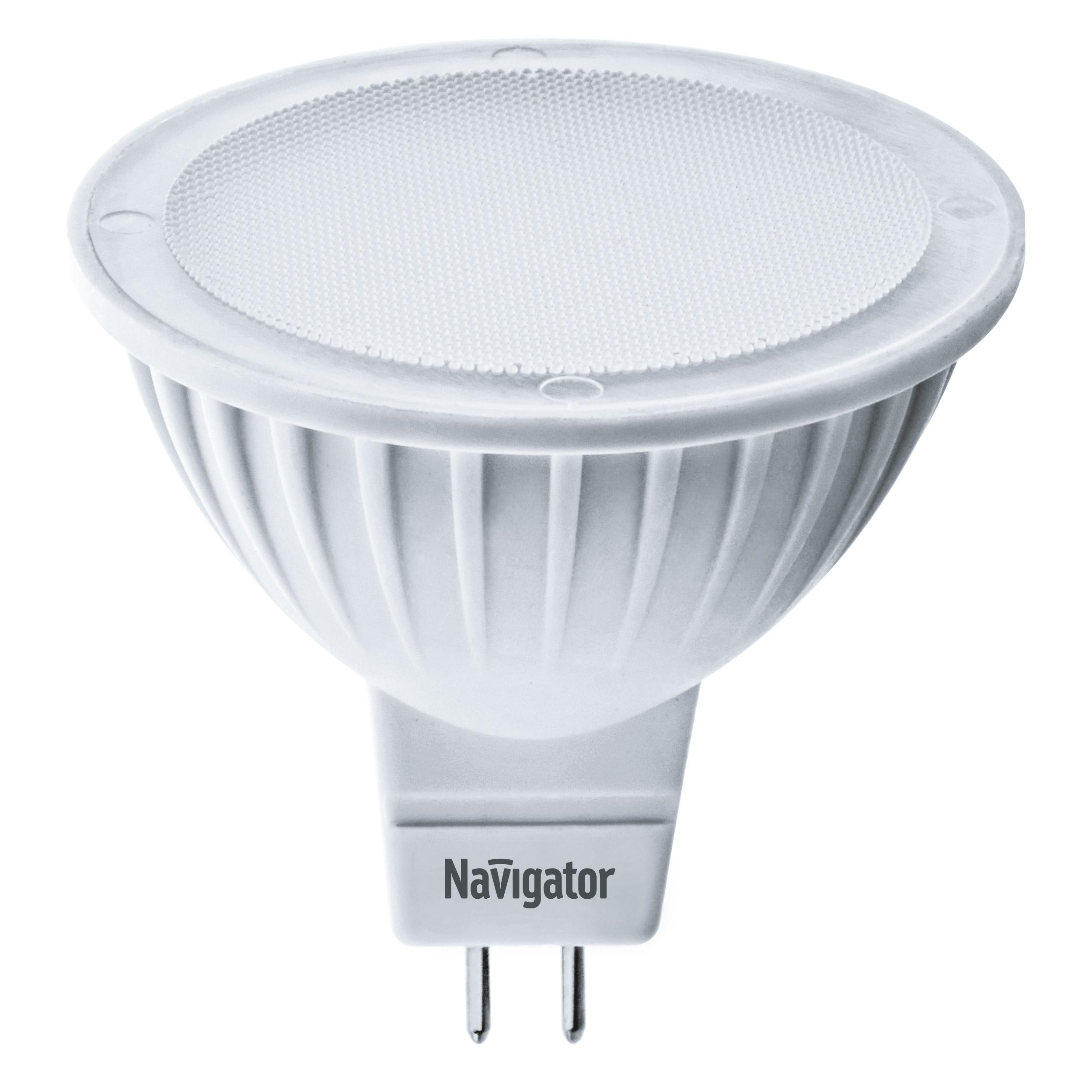 Лампа светодиодная Navigator MR16 3Вт 230В цоколь GU5.3 (теплый свет)