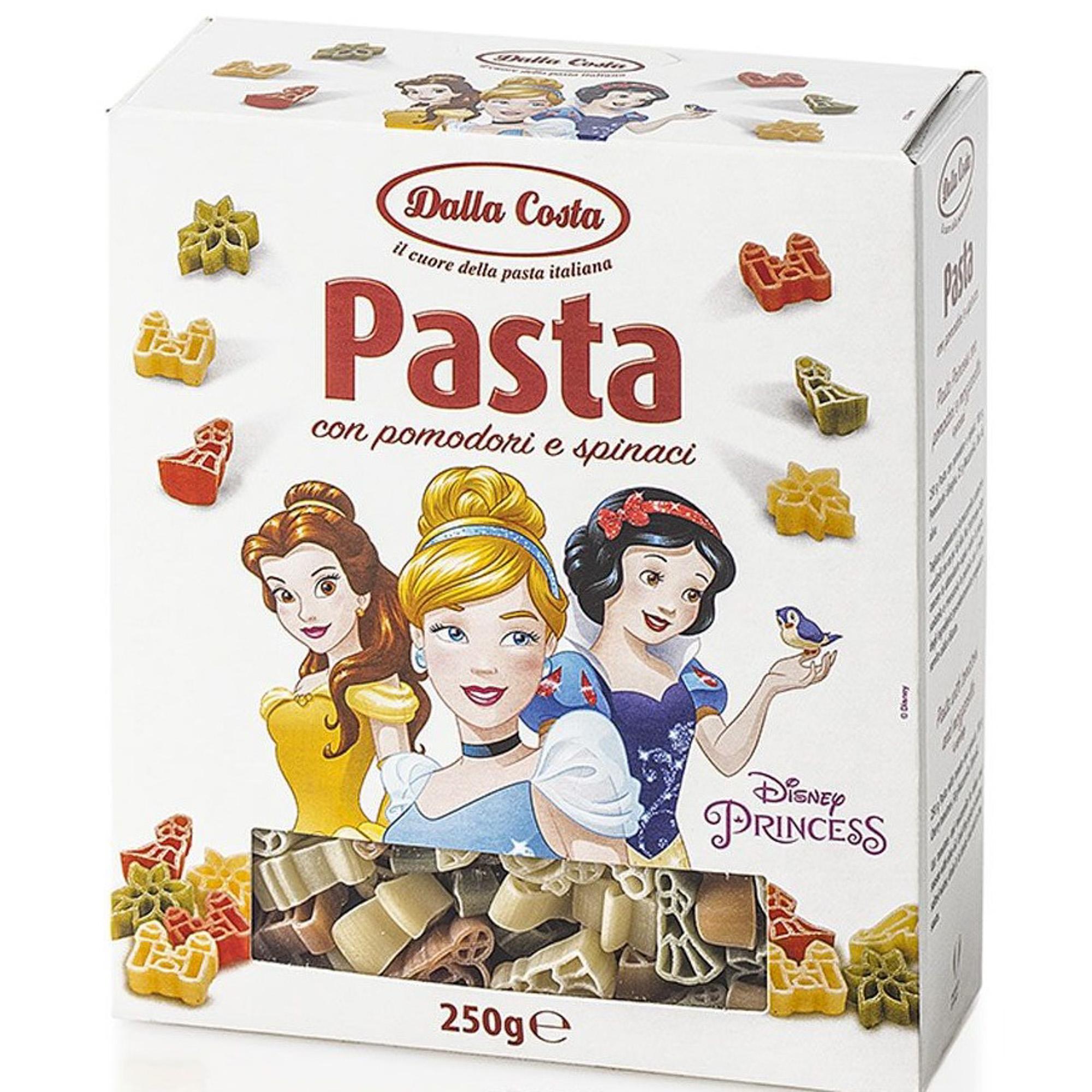 Макаронные изделия Dalla Costa Принцесса со шпинатом и томатом 250 г макаронные изделия ашан вермишель 250 г