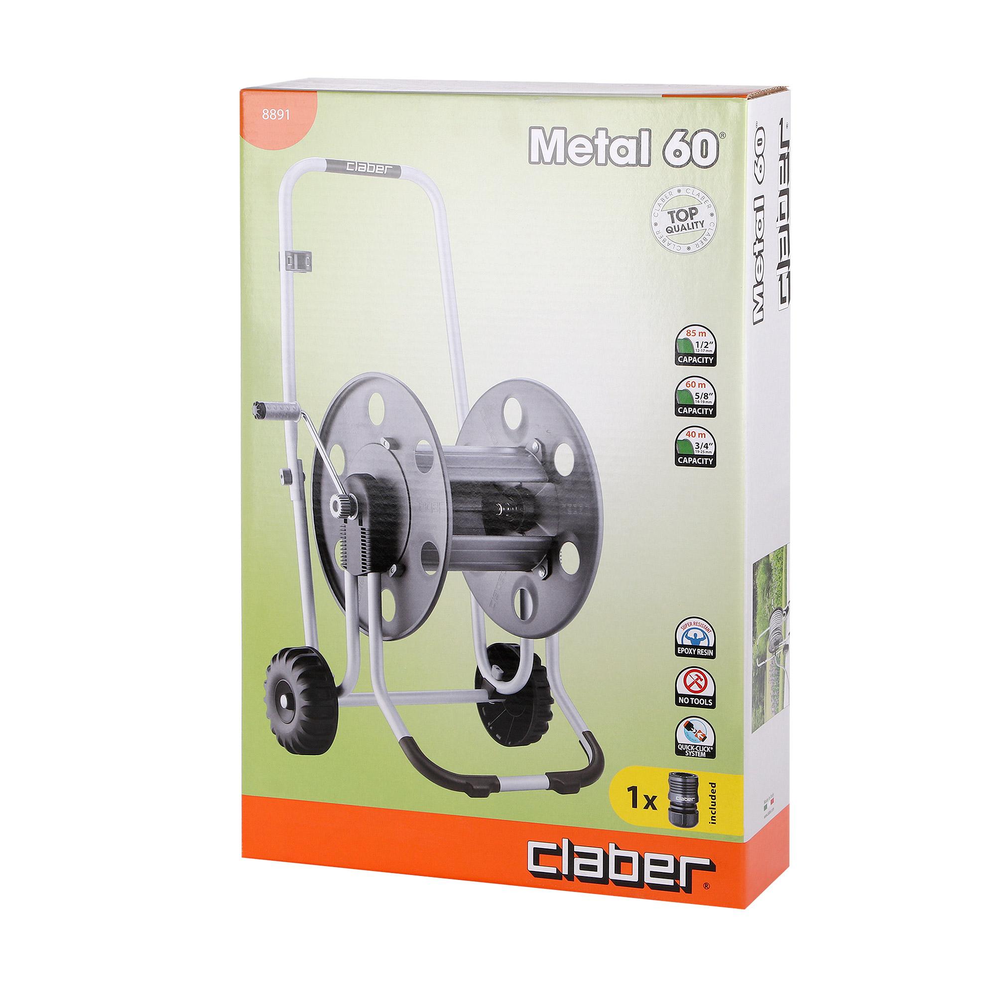 Катушка для шланга Claber metal 60 катушка claber mini set balcony