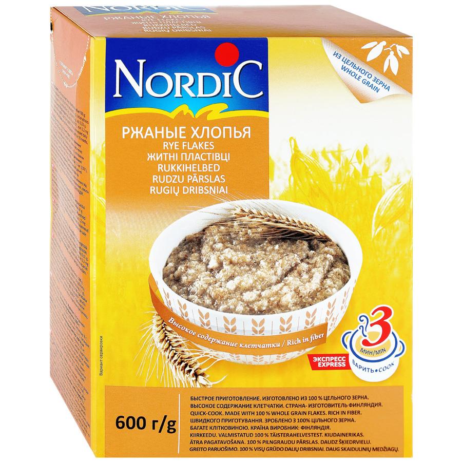 Хлопья Nordic ржаные 600 г