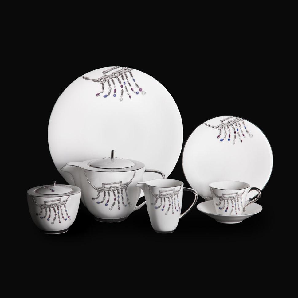 Фото - Чайный сервиз Hankook/Prouna Тифани с кристаллами Swarovski 22 предмета чайный сервиз hankook prouna блэк палас с кристаллами swarovski 22 предмета