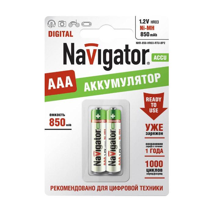 Батарейки Navigator NHR-850-HR03-RTU-BP2 фото