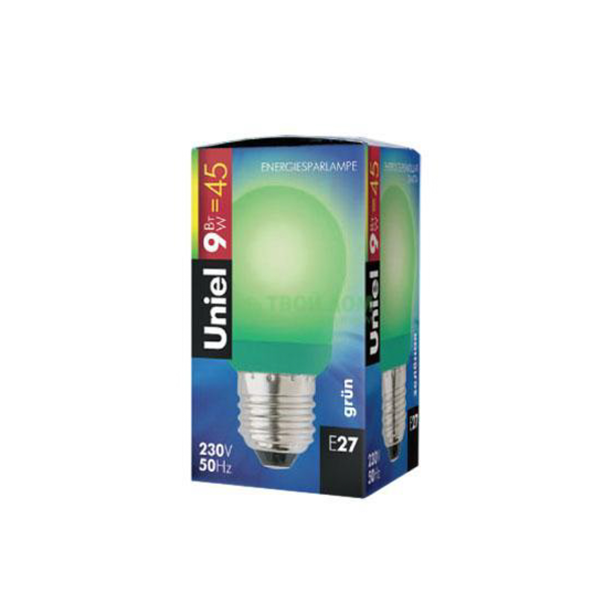 Лампочка UNIEL ESL-G45-9/GREEN/E27