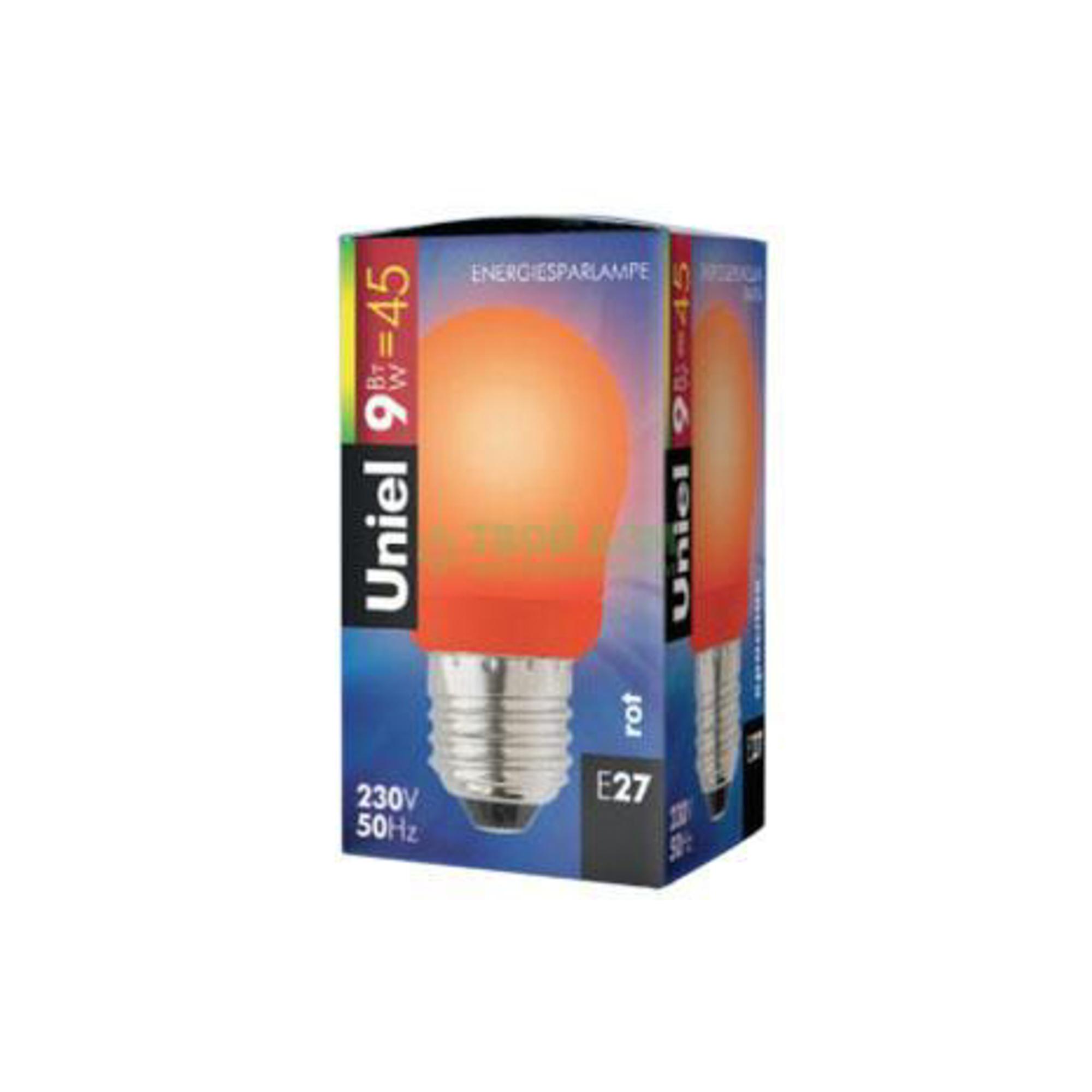 Лампочка UNIEL ESL-G45-9/RED/E27 фото
