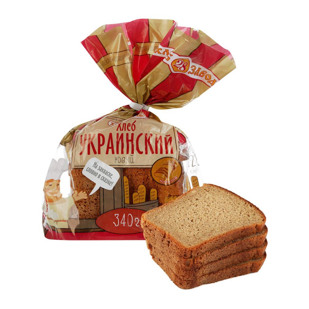 Хлеб Хлебозавод 28 Украинский Новый формовой нарезка 340