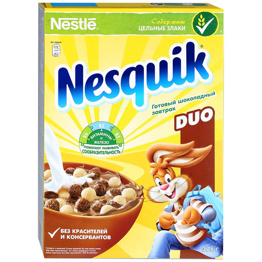 Готовый завтрак Nesquik Duo шоколадный 375 г.