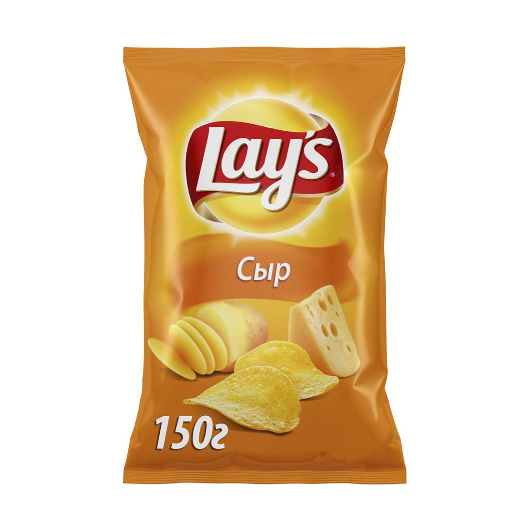 Чипсы картофельные Lays Сыр 150 г чипсы bon giorno картофельные сыр дорблю 90 г