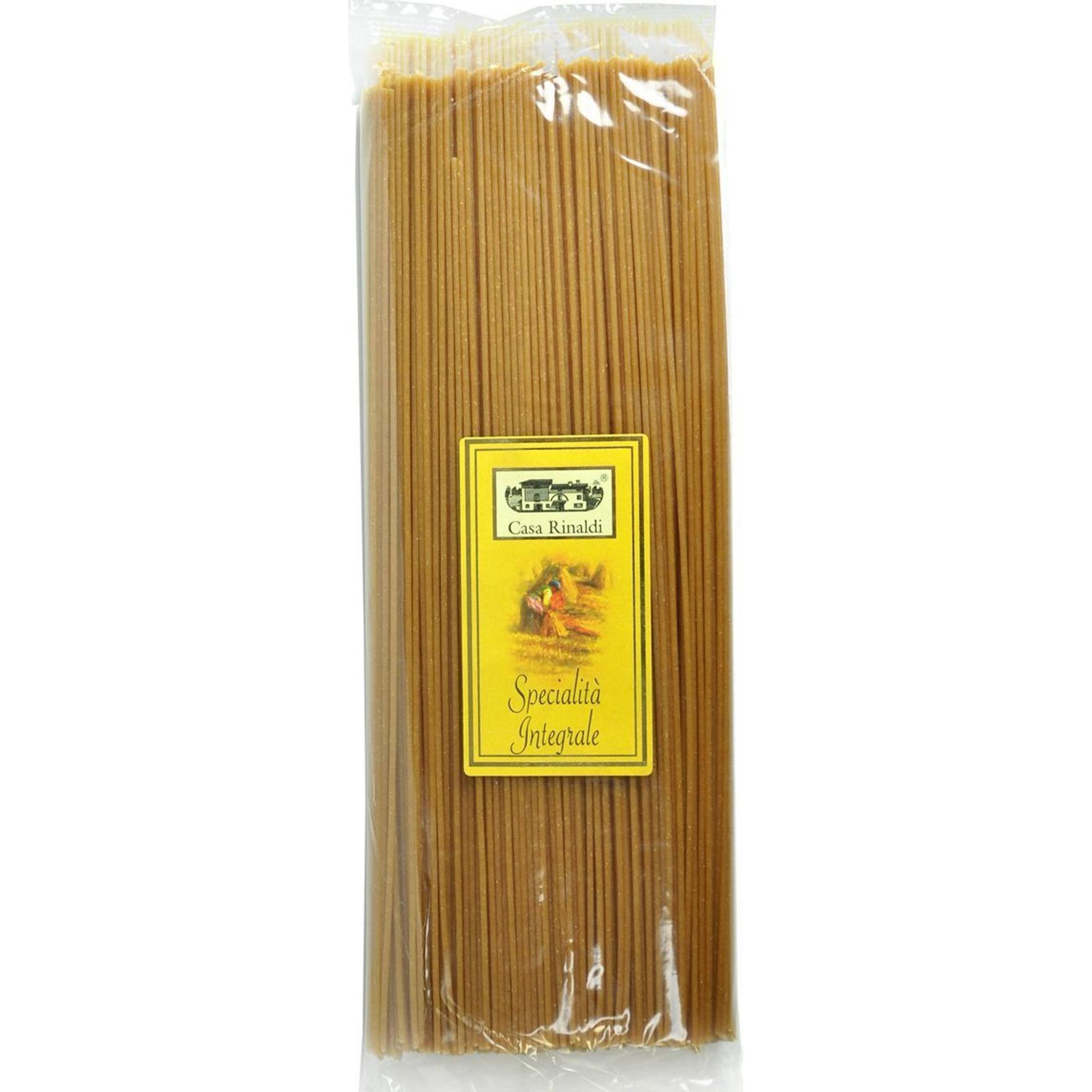Спагетти Casa Rinaldi из непросеянной муки 500 г рис casa rinaldi карнароли длиннозёрный полуобрушенный 500 г