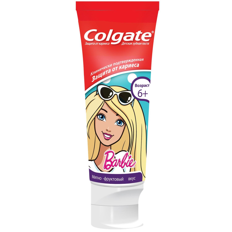 Зубная паста детская Colgate Barbie Spiderman 6 + 75 мл фото