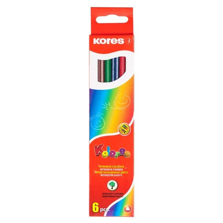 Карандаши цветные Kores 6 цветов 2,9 мм