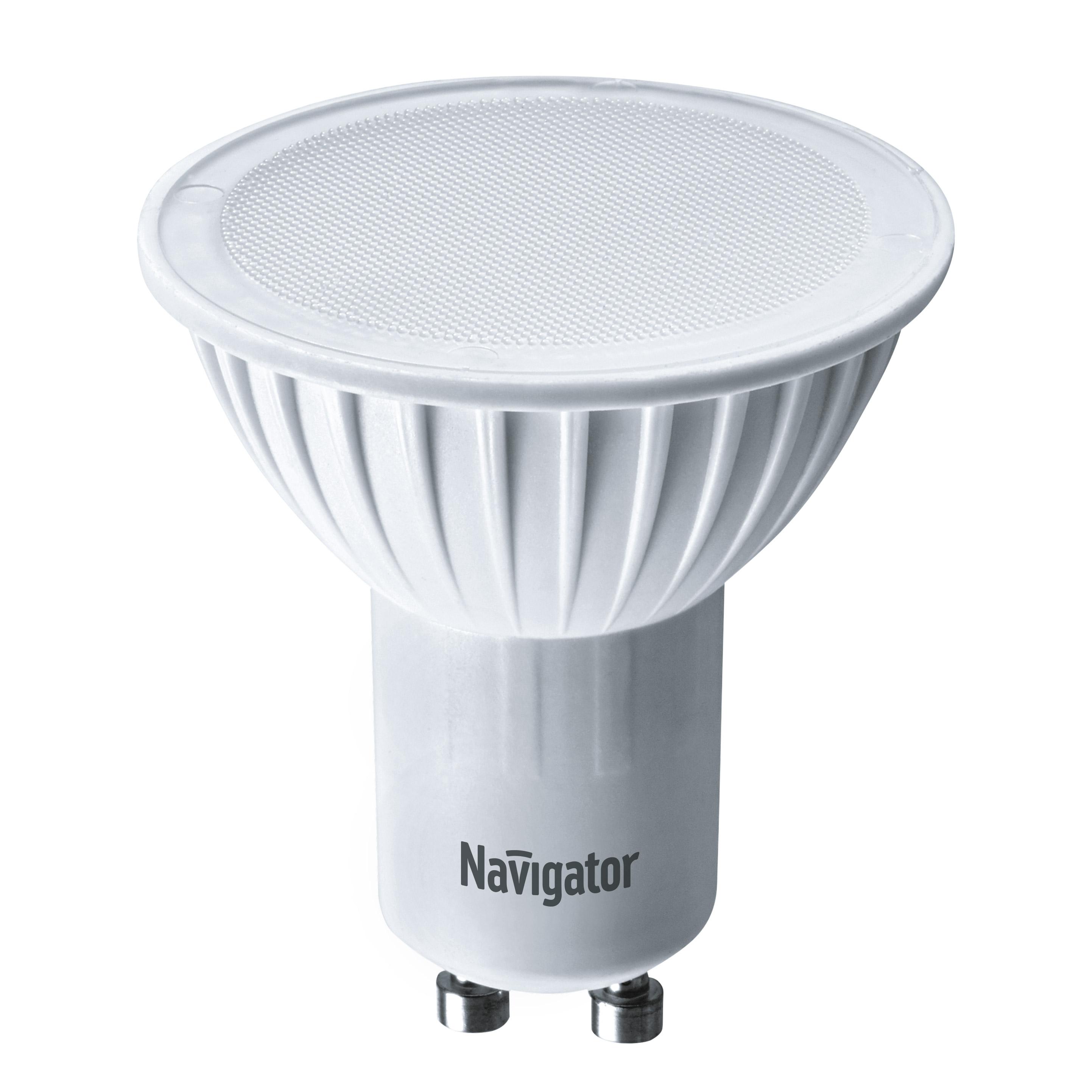 Лампа светодиодная Navigator PAR16 5Вт цоколь GU10 (теплый свет)