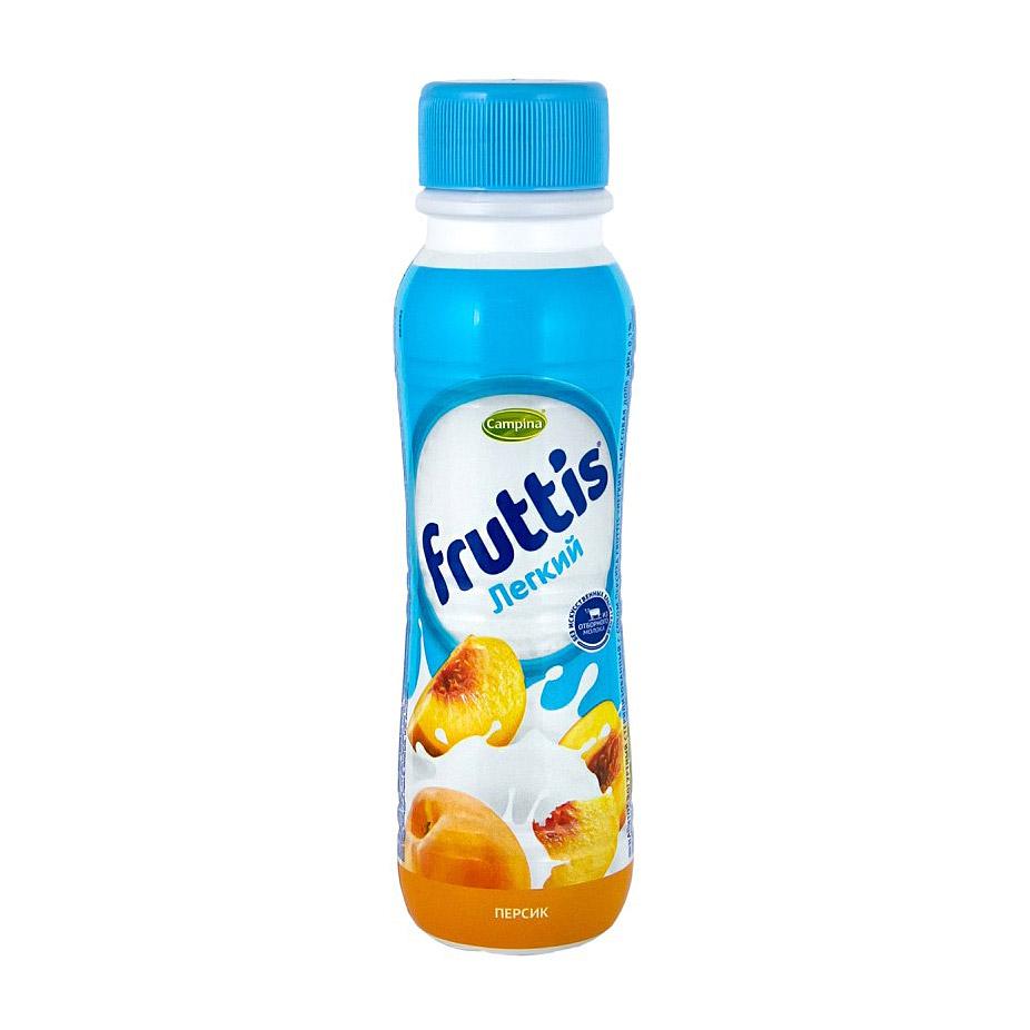 Фото - Йогурт питьевой Campina Fruttis персик 0,1% 285 г йогурт campina fruttis легкий клубника 0 1% 110 г