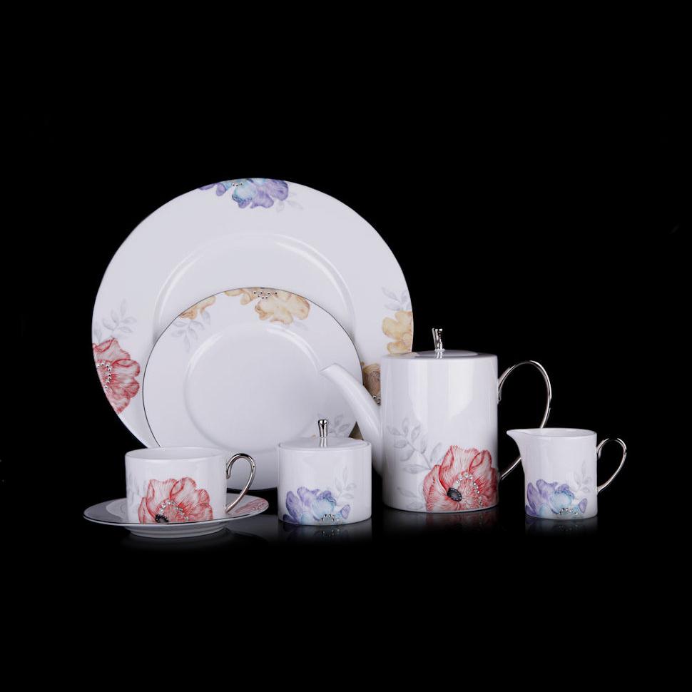 Фото - Чайный сервиз Hankook/Prouna Корсаж с кристаллами Swarovski 22 предмета чайный сервиз hankook prouna блэк палас с кристаллами swarovski 22 предмета