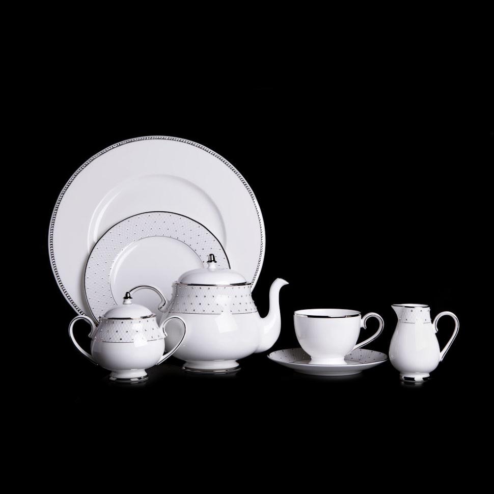 Фото - Чайный сервиз Hankook/Prouna Принцесс с кристаллами Swarovski 22 предмета чайный сервиз hankook prouna блэк палас с кристаллами swarovski 22 предмета
