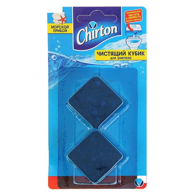 Фото - Кубик для чистки унитаза Chirton Морской прибой 2x50 г чистящий кубик для унитаза chirton альпийская долина 3x50 г