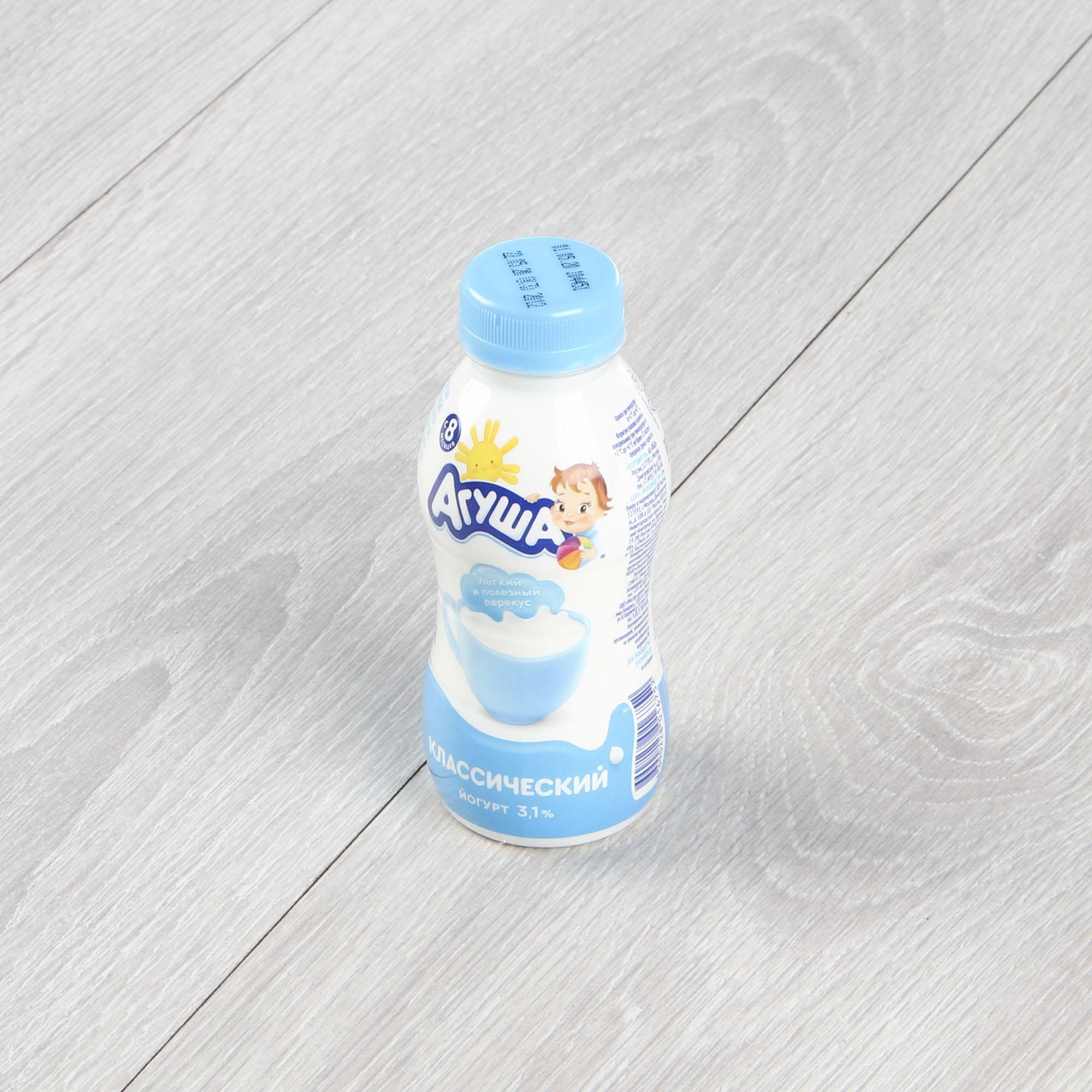 Йогурт питьевой Агуша Классический 3,1% 200 мл